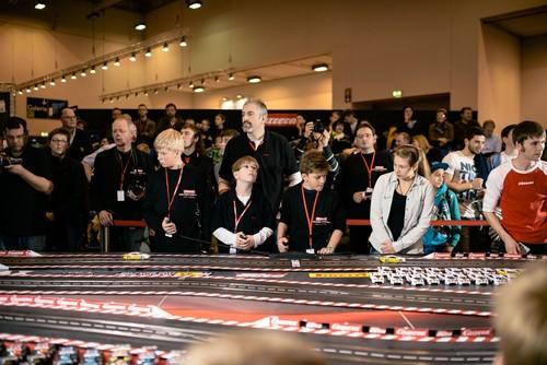 """Finale der """"Carrera Challenge Tour 2013"""" auf der Essen Motor Show."""