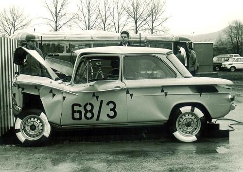 Der NSU Prinz (1958) war eines der ersten Autos mit einer frontalen Knautschzone.