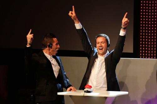 Ehrung der WRC-Meister: Ogier (links) und Ingrassi.
