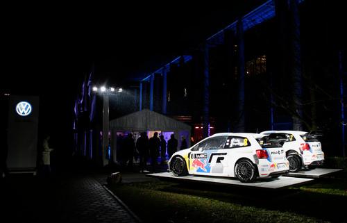 Ehrung der WRC-Meister: Die Meisterstücke Volkswagen Polo WRC.