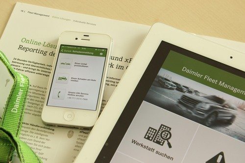 Fleet-App von Daimler Fleet-Management.