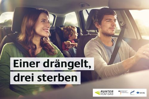 """Plakat der Kampagne """"Runter vom Gas""""."""