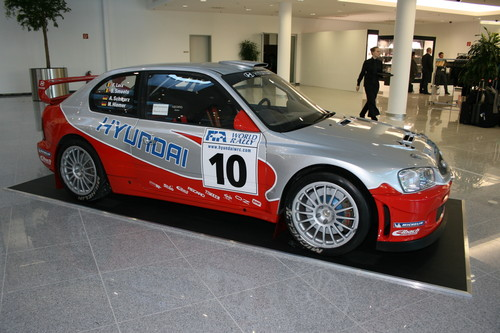 Hyundai Accent Rallyefahrzeug.