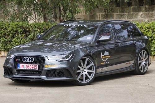 Der Audi RS 6 von MTM erreichte in Nardo eine Spitzengeschwindigkeit von 330,1 km/h.