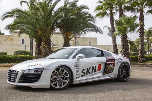 Der Audi R8 V10 mit 806 PS von SKN Tuning erreichte in Nardo 349,8 km/h.