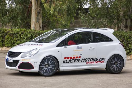 Der Opel Corsa OPC Nardo Edition mit 550 PS von Klasen Motors erreichte in Nardo eine Spitzengeschwindigkeit von 309,6 km/h.