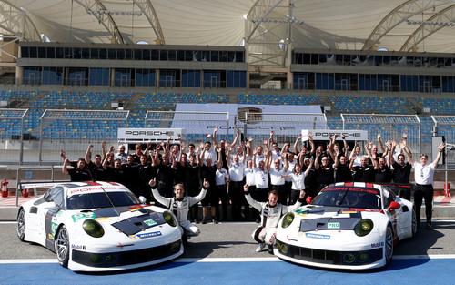 Posche Motorsport in der Saison 2014: Porsche 911 RSR, Porsche AG Team Manthey.
