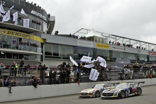 Mercedes AMG-Kundensport 2013: Gesamtsieg beim 24-Stunden-Rennen Nürburgring 2013.
