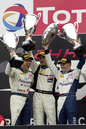 Mercedes AMG-Kundensport 2013: Gesamtsieg beim 24-Stunden-Rennen Spa-Francorchamps 2013.