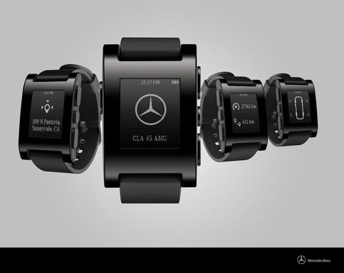 Intelligent integriert: Pebble Smartwatch