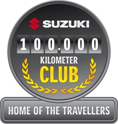 """Für Vielfahrer: """"100 000 Kilometer Club"""" von Suzuki."""