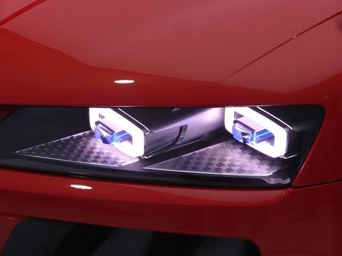 Audi Quattro Sport Laser Light Concept: die Laser-Scheinwerfer.