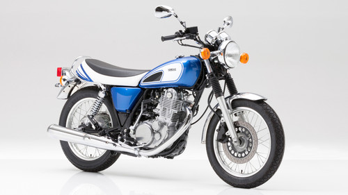 "Yamaha SR 400 ""50th Anniversary""."