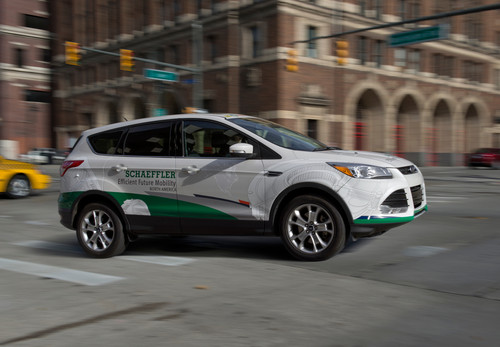 Schaeffler-Demonstratorfahrzeug Efficient Future Mobility North America.