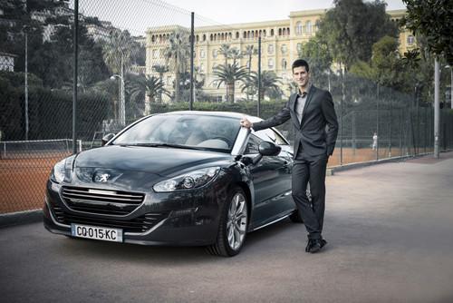 Peugeot-Markenbotschafter Novak Djokovic.