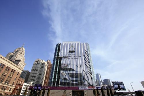 Detroit 2014 - vielleicht wird das Banner ja noch fertig.