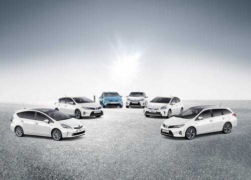 Hybrid-Modellpalette von Toyota.