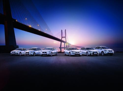 Hybrid-Modellpalette von Lexus.