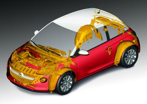 170 Komponenten beim Opel Adam sind so genannte Rezyklate.