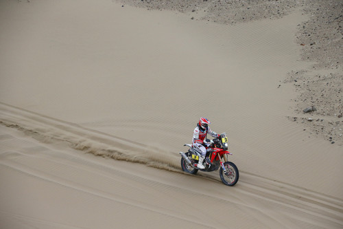 Joan Barreda Bort auf Honda CRF 450 Rally.