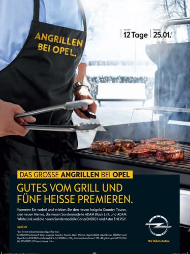 Angrillen beim Opel-Händler.