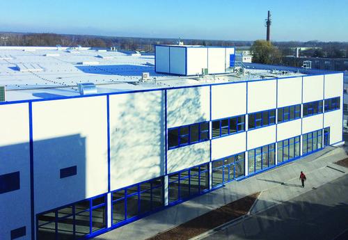 Neues Produktionsgebäude von Kiekert am tschechischen Standort Prelouc.