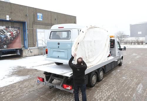 Ankunft des letzten T2 im VW-Nutzfahrzeug-Werk in Hannover.