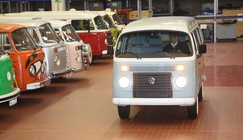 Ankunft des letzten T2 in der Sammlung des VW-Nutzfahrzeug-Werks in Hannover.