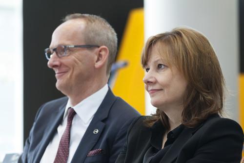 GM-Chefin Mary Barra und Opel-Vorstandsvorsitzender Dr. Karl-Tomas Neumann.