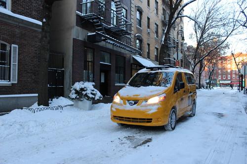 Nissan NV200 Yellow Cab.
