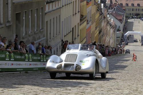 Wanderer Stromlinien-Roadster bei Sachsen Classic.