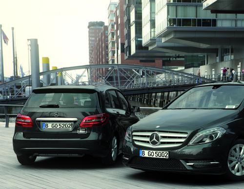 Daimler nutzt für seinen Carsharingdienst Car2go Black die Mercedes-Benz B-Klasse in Schwarz.