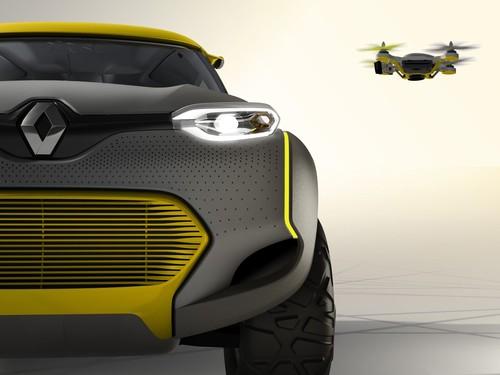 Renault Kwid Concept mit Flugroboter.