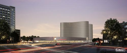 Porsche-Zentrum Hamburg - nahe des Berliner Tors (Visualisierung).