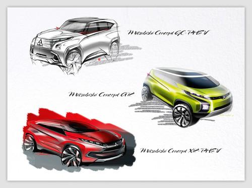 Mitsubishi gibt in Genf einen Ausblick auf zukünftige Modellentwicklungen.