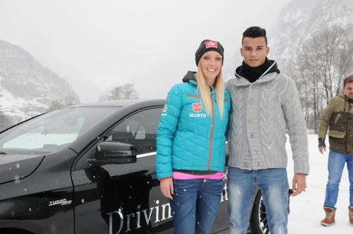 Pascal Wehrlein und Isabell Laböck beim Mercedes-Benz-Wintertraining.