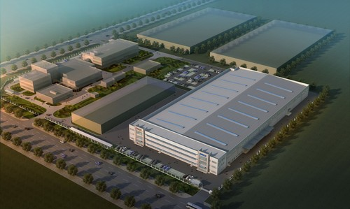 Geplantes Werk von Bosch Mahle Turbo Systems in Shanghai.