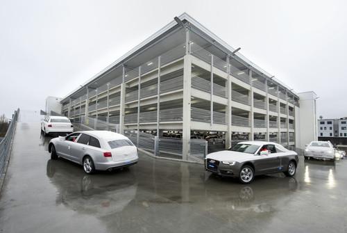 Fahrzeug-Distributionszentrum von Audi in Neckarsulm.