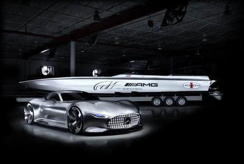 Mercedes-Benz AMG Vision Gran Turismo und das Cigarette Racing 50' Vision GT Concept.