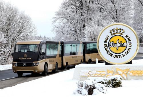 Besucherbahn der Warsteiner Brauerei von Paul Nutzfahrzeuge auf Basis des Mercedes-Benz Atego.