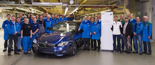 Der neunmillionste BMW aus Dingolfing, ein M6 Gran Coupé.