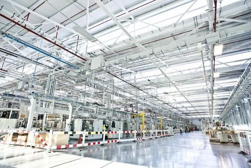 Künftiges Motorenwerk von Jaguar Land Rover in der Nähe von Wolverhampton.