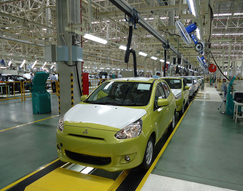 Im Werk Laem Chabang Industrial Estate in Thailand lief der 200 000ste Mitsubishi Space Star vom Band.