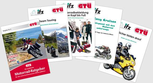 GTÜ-Motorradratgeber und die von der GTÜ unterstützte Broschürenreihe des Instituts für Zweiradsicherheit.