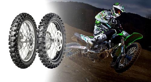 Dunlop Geomax MX 32 und MX 52.