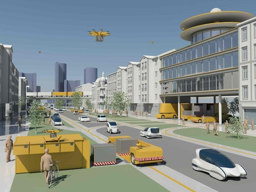 Im Förderprojekt Villa Ladenburg der Daimler- und Benz-Stiftung wird untersucht, inwieweit vollautomatisches Fahren im Güterverkehr auf der Straße sinnvoll und umsetzbar ist.