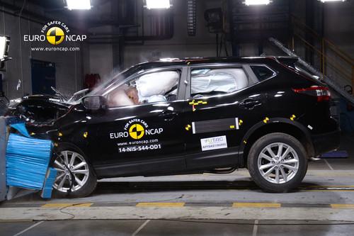 Nissan Qashqai im Euro-NCAP-Crashtest.