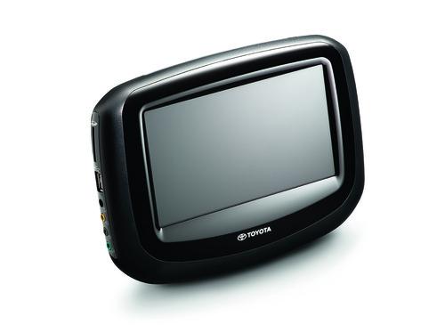 Monitor des Entertainment-Systems von Toyota.