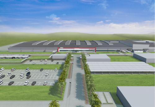 Geplantes Toyota-Motorenwerk im indonesischen Karawang.
