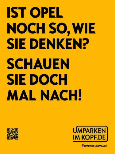 """Opel-Kampagne """"""""Umparken im Kopf""""."""